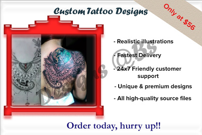 Design your awesome tattoo superfast