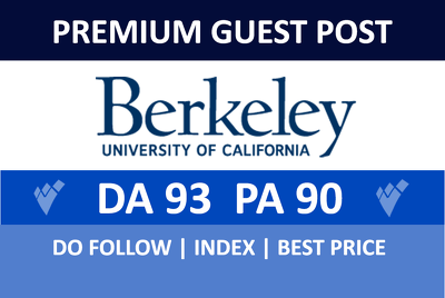 Publish a guest post on Berkeley - Berkeley.edu DA 93