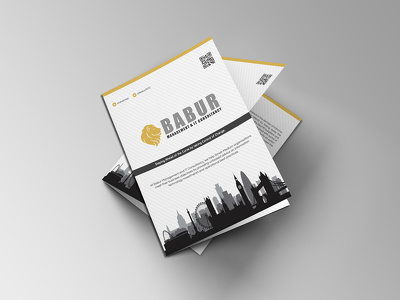 Design promotional brochure with editable files