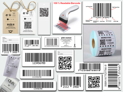 Create barcode, Clothing labels, Hang tags & Price tags.