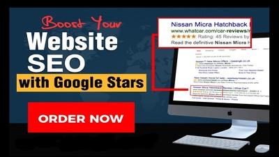 Boost website ranking SEO with magic Google stars review