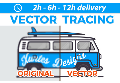 Convert/redraw your logo or image to vector