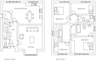 Deliver 2D CAD Architectural House Floor Plans