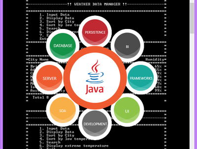 Develop java | C | C++ | Bluej small console application/program
