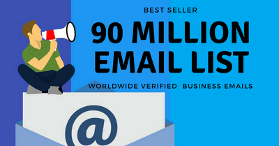 90 Million Email list of US, UK & CANADA for Marketing