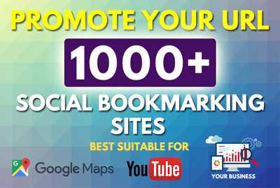 Give 1500 HQ Social Bookmarks Backlinks for Website & Youtube