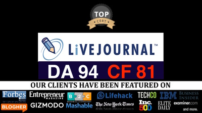 Publish guest post on livejournal.com DA94, TF 81 Nofollow link