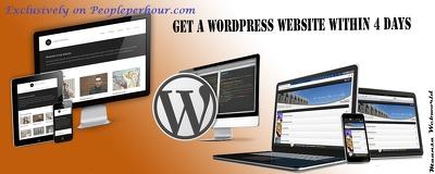 Design modern, unique & responsive website in Wordpress(CMS)