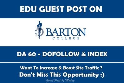 Edu Guest Post on Barton College. Barton.edu - DA 60