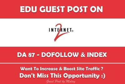 Publish a Guest Post on Internet2 - Internet2.edu DA 87 PA 90