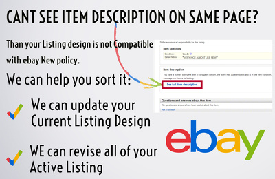 Update your eBay listings and fix https problem 2018 compliant