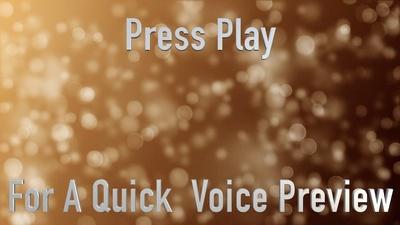 Provide a Professional Classic British Male Voiceover