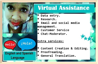 Admin / virtual assistant 4 hours 5 days on a week