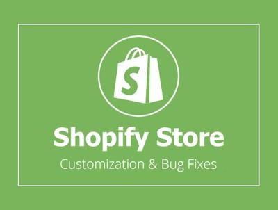 Fix Bugs and Customization Shopify Store