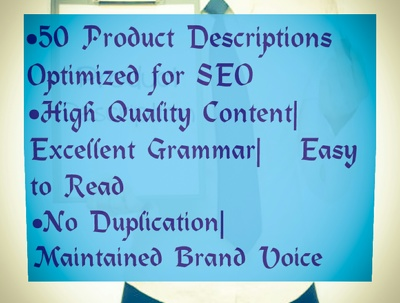 Write 50 Product Descriptions for Your Business Blog or Website