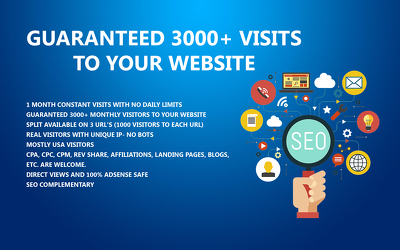 Generate Guaranteed 3000+ visits to your website