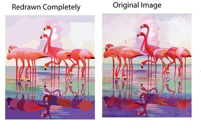 Convert any pixalated artwork (logo, etc.) to vector artwork