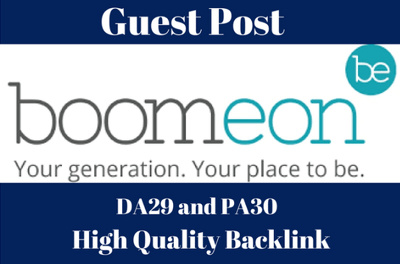 Write And Publish Post On Boomeon.com DA 29 With Dofollow Link