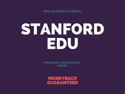 stanford.edu DA96 Permanent Moneyback Guarantee Dofollow Indexed