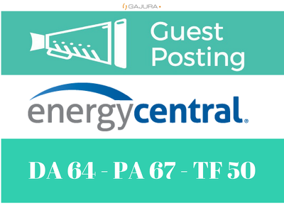 Publish a guest post on EnergyCentral - DA64, PA67, Alexa 212K