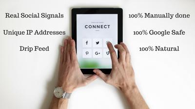 Provide Natural Drip feed Social Signals To Help SEO & Traffic
