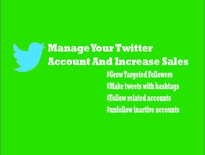 Manage and marketing twitter professionally