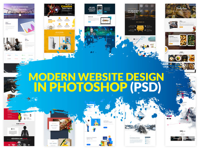 Design a modern website in Photoshop