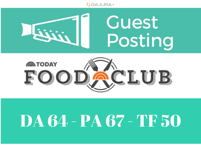 Publish a guest post on Food Club Community Today - DA93, PA65