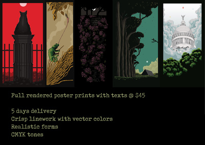 Be your Poster and Tshirt designer