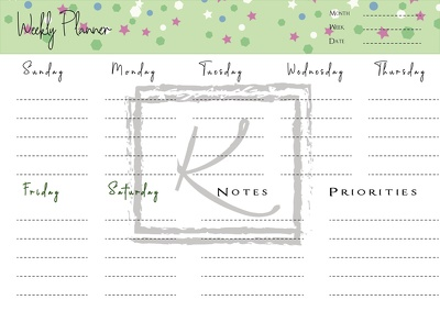 Design Printable Planners, Calendars and much more.