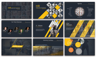 design 25 slides editable Powerpoint presentation with revisions