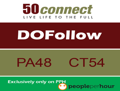 Publish Guest Post on 50connect.co.uk DA 40+ .co.uk Domain