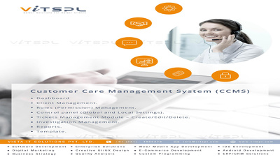 Design and develop Customer Care Management System