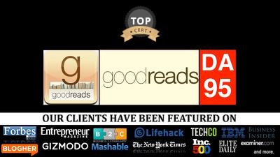 Guest post on goodreads goodreads.com DA96, PA95 education niche
