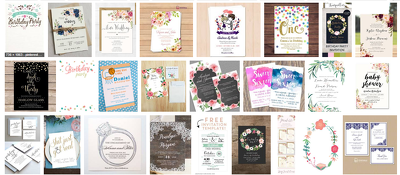 Design Wedding Birthday Party Event Invitation