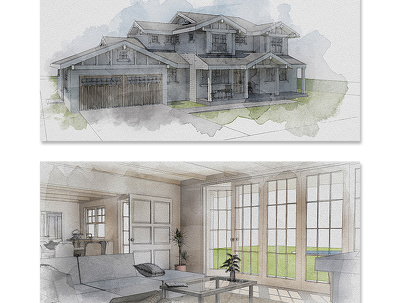 Make a watercolor/hand sketch of your property