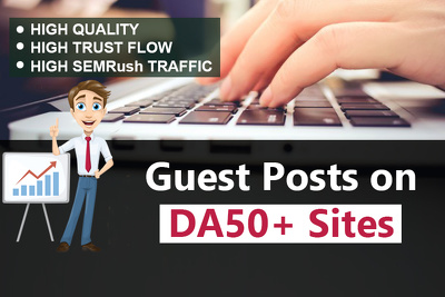 Offering exciting services of Guest posting on high DA sites