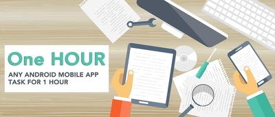 Work 1 hour Android application/Android studio development task