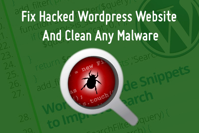 Fix Hacked Wordpress Website And Clean Any Malware