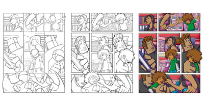 Draw a Comic Art Page for your Comics or Comic Book.