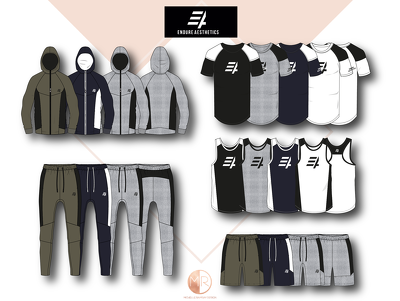 design your athletic apparel, sportswear and gym range - 4 PIECE