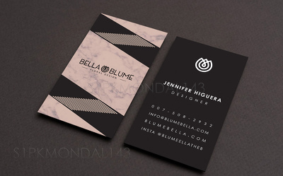 Design a Minimalist Business Card with Unlimited Revisions