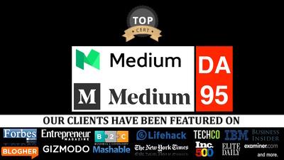 Publish guest post on medium medium.com DA94, PA82 Nofollow link