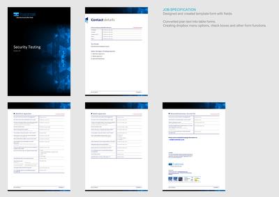 Create an editable word or PDF form