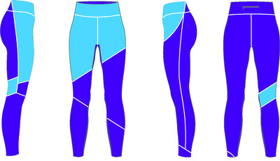 Deliver technical sketches for leggings