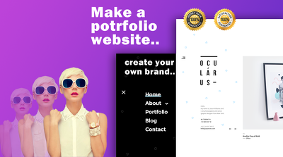 Make a professional portfolio wordpress site, + free Support.