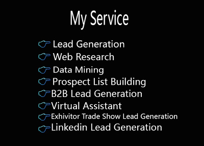 Do 100 quality B2B Lead Generation email for Marketing