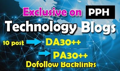 10 Guest Post on Technology Websites DA30+ (Do-Follow)