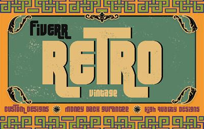 Design retro vintage flyer,poster,stamp or logo