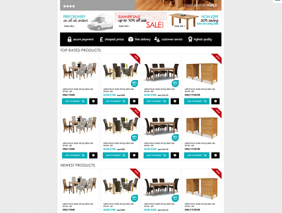Design a bespoke magento ecommerce website in PSD/JPG format